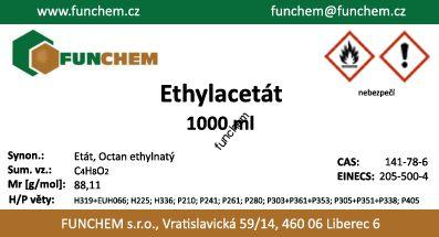 Ethylester kyseliny octové - ethylacetát chem. č. 1000 ml