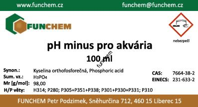pH Minus pro akvaria 100 ml